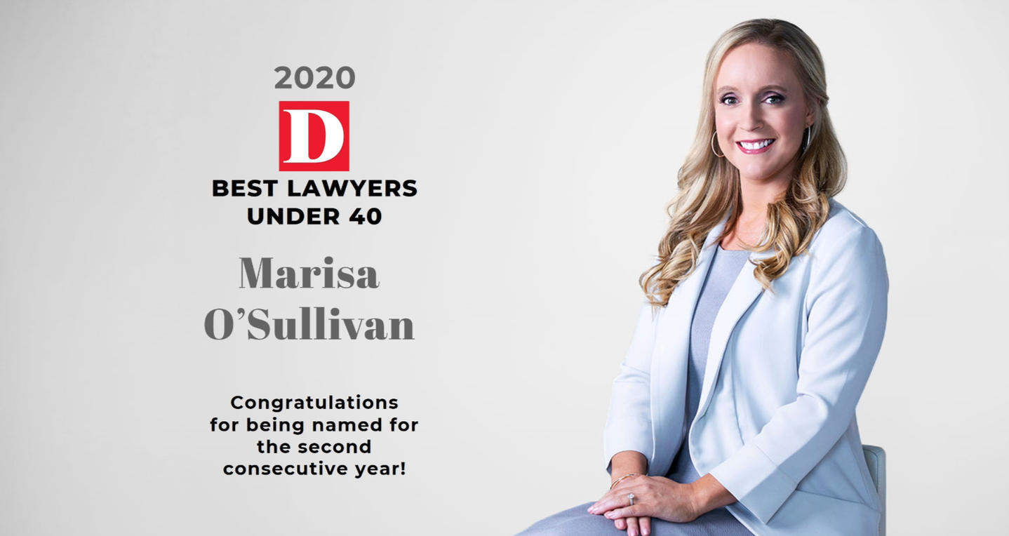Marisa Jeffrey O'Sullivan Named One of Dallas' 2020 Best Lawyers Under 40